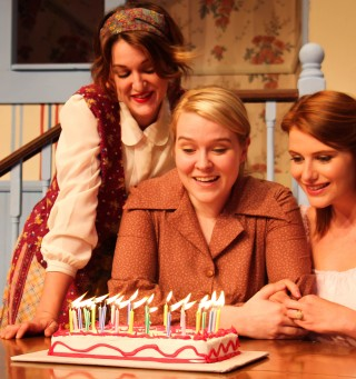 The Magrath Sisters (L to R): Sydney Blackwell as Meg Magrath, Lauren Gunn as Lenny Magrath, and Annie Cleveland as Babe Botrelle