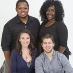 2016-17 Professional Acting Intern Company: Front L to R: Hope Prybylski and Jake Bell; Back L to R: Christan McLaurine and LaSharron Purvis