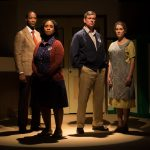 Best of Enemies Cast (L to R) Yohance Myles as Bill Riddick, Marci J. Duncan as Ann Atwater, Rus Blackwell as C.P. Ellis, and Jessica Wilkinson as Mary Ellis