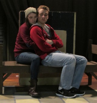 Lauren Gunn and Pat Moran in Gruesome Playground Injuries, an Unframed at New Stage Theatre Series production.