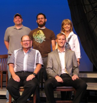 Back Row – from left to right:  Sonny M. Evans (Raymond), Troy D. Morgan, Jr. (Brookhaven)  Peggy Mayfield Gouras (Vicksburg) Front Row – Dr. Ken Oswalt (Madison),  Thomas C.  Rollins (Jackson)