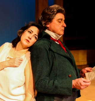 Francine Thomas Reynolds as Dr. Katherine Brandt and Larry Wells as Beethoven