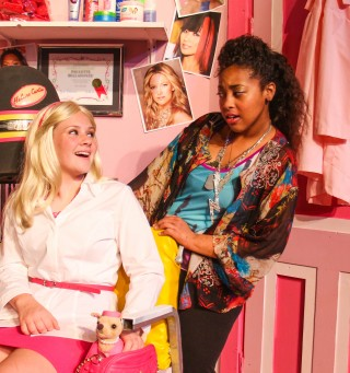 L to R: Kate Rodenmeyer as Elle Woods and Tykala Barmes as Paulette