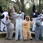 #5. The Cast of Madagascar--a Musical Adventure. Front L to R: LaSharron Purvis as Gloria the Hippo, Chris Roebuck as King Julien, Sharon Miles as Alex the Lion, Jenn Harris as Maurice the Lemur. Back L to R: Chesney Mitchell as Penguin, Josh Harris as Penguin, Jake Bell as Melman the Giraffe, Ben Sanders as Penguin, Cameron Pitre as Penguin, and Christan McLaurine as Marty the Zebra.