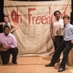 Oh Freedom! The Story of the Underground Railroad Cast (L to R): Christan McLaurine and Hope Prybylski, LaSharron Purvis and Jake Bell