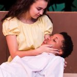 Hannah Brady as Ti Moune and Jeffrey Cornelius as Daniel in New Stage Theatre's Summer Camp production of Once On This Island Jr.