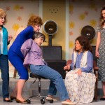 Cast of Steel Magnolias: L to R: Jessica Wilkinson as Truvy, Laurie Pascale as Clairee, Viola Dacus as Ouiser, Wendy Miklovic as M'Lynn, Taylor Galvin as Annelle