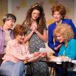 Cast of Steel Magnolias: Back L to R: Viola Dacus as Ouiser, Taylor Galvin as Annelle, Laurie Pascale as Clairee; Front L to R: Annie Cleveland as Shelby, Jessica Wilkinson as Truvy
